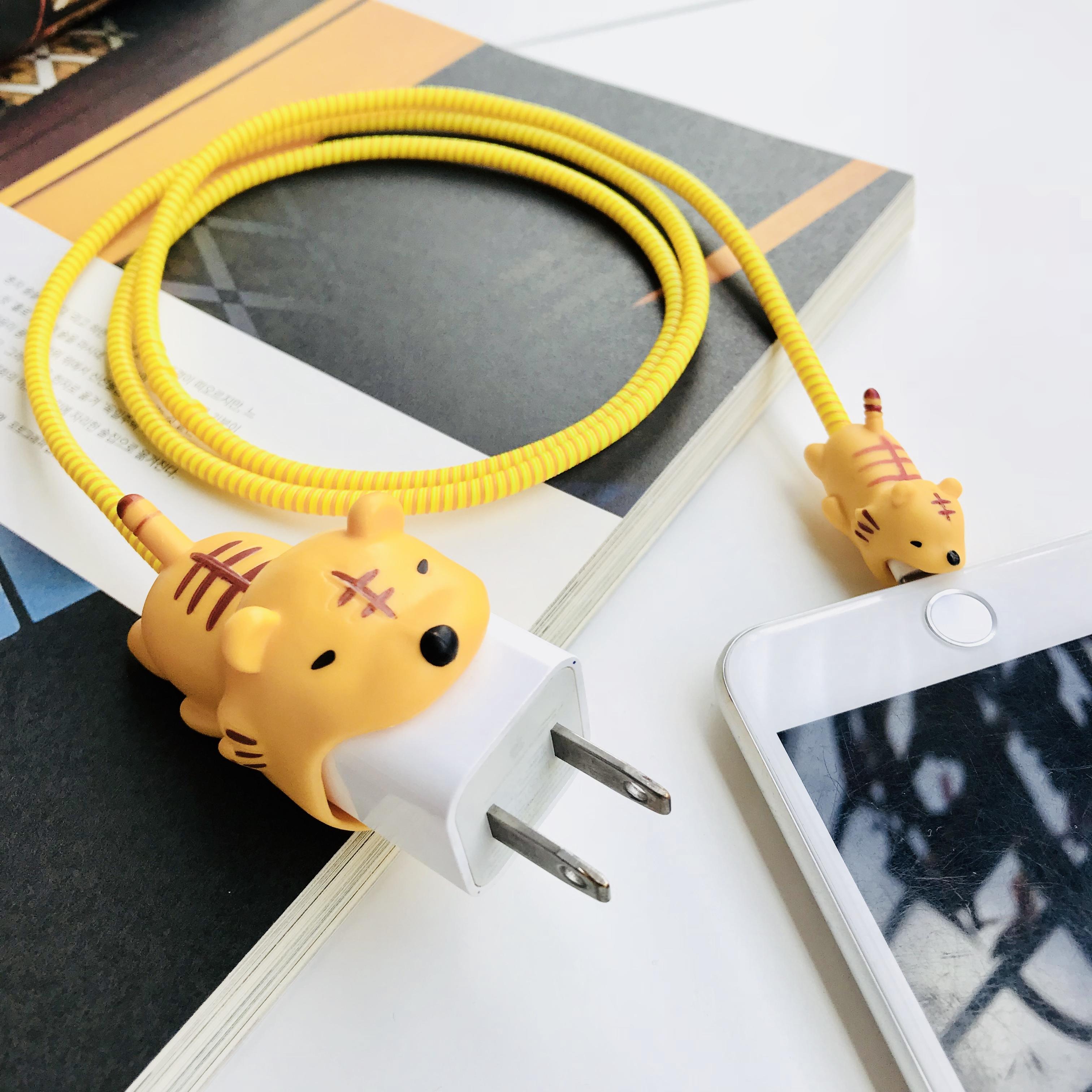 咬線器蘋果數據線保護套手機充電器保護繩iPhone充電線耳機防折斷