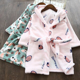 2019 autumn and winter children's fruit cartoon flannel bathrobes home service bathrobes boys and girls baby nightgown pajamas