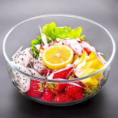 玮琪透明玻璃碗碗柜耐热食盆大鸡蛋羹厨房打蛋盆调配家庭玻璃碗沙