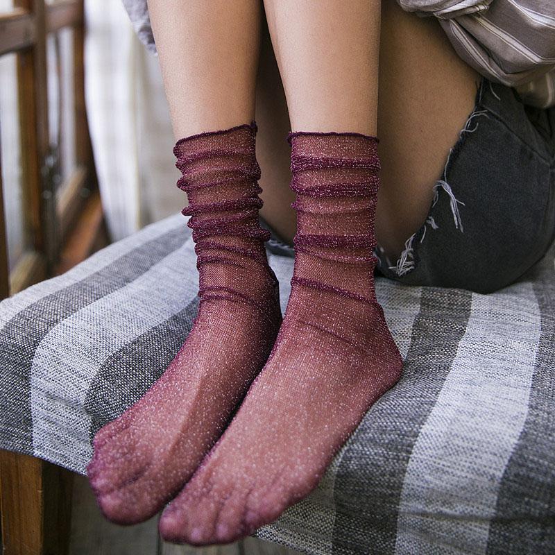 复古短丝袜
