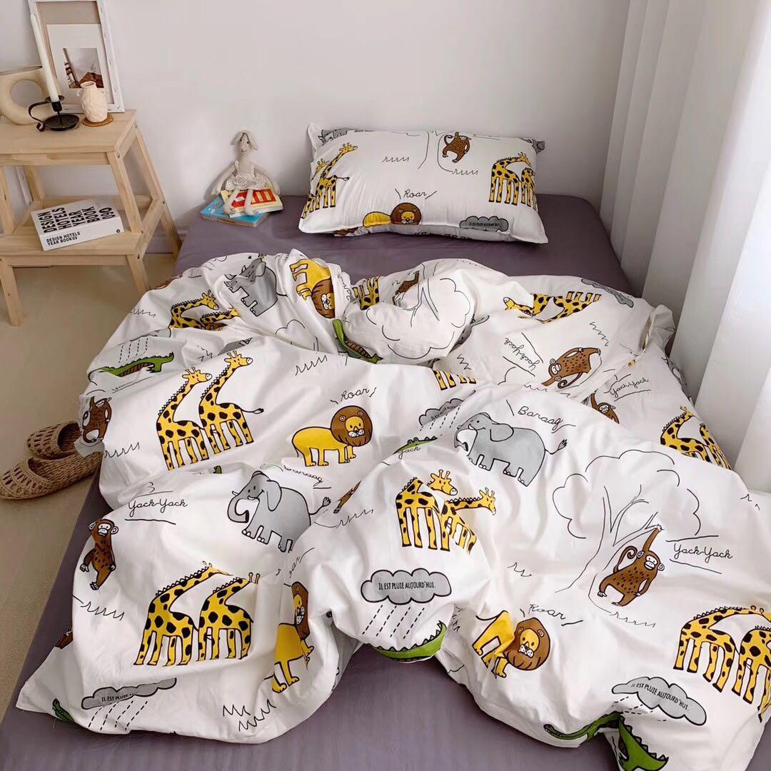 全棉史努比小恐龙儿童幼儿园三件套宝宝纯棉床上婴儿床品全棉床单
