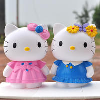 Creative cute KT cat piggy bank adult large oversized piggy bank children piggy bank female birthday gift