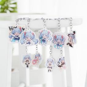 七了个三 七三娘卡通动漫钥匙扣二次元可爱少女包包挂件配饰吊坠