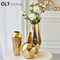 小清新陶瓷花瓶花插现代简约假花干花花器客厅餐桌家居装饰品摆件