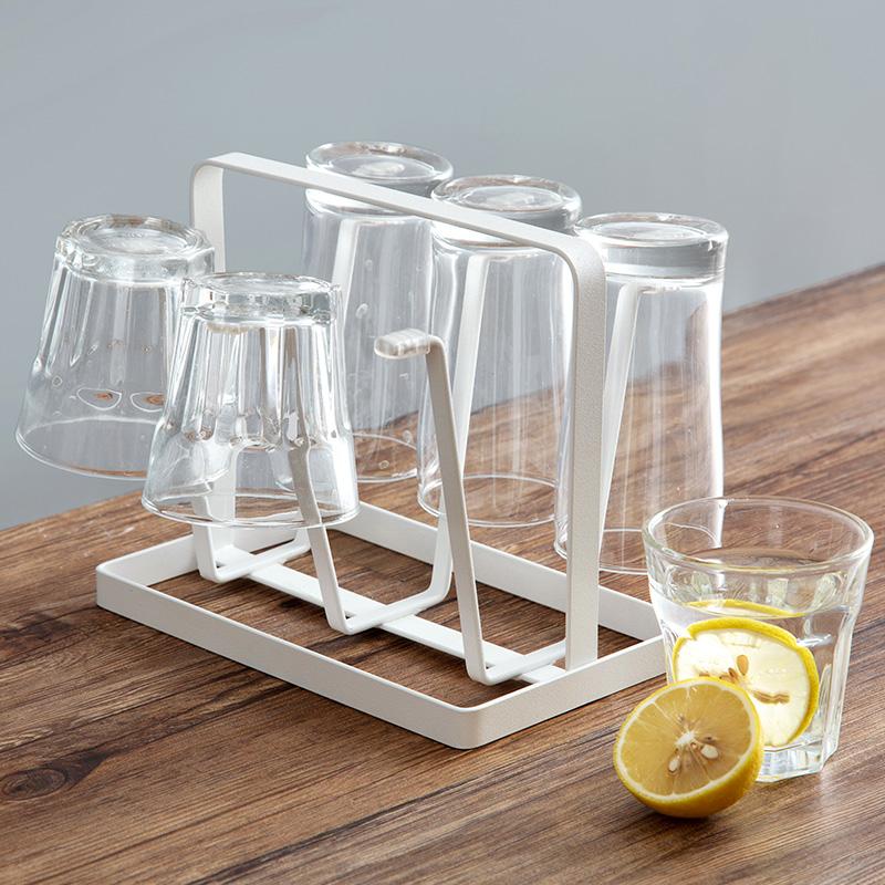 居家家铁艺杯子收纳架杯子架家用玻璃杯置物架水杯挂架杯架沥水架