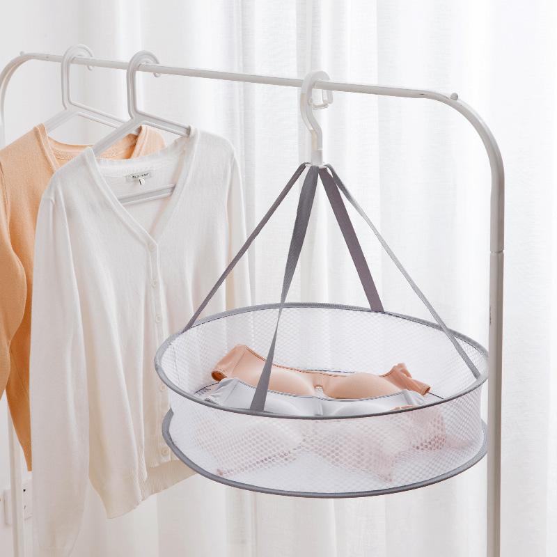 居家家可折叠晾衣篮平铺晾晒网晒衣网双层晾衣服的网兜毛衣晒衣篮