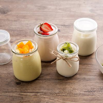 居家家 玻璃布丁瓶自制酸奶慕斯小瓶子 厨房耐高温带盖烘培用模具