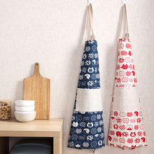 Home home cotton and linen apron fashion oil-proof cooking cooking belly Korean version of the cloth home kitchen ladies gown