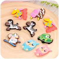 Home home creative magnet refrigerator stickers cartoon cute message board three-dimensional animal silicone magnet decorative magnet