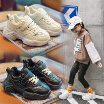 秋冬季儿童鞋男童运动鞋机能鞋小孩跑步鞋加绒棉鞋女童旅游休闲鞋