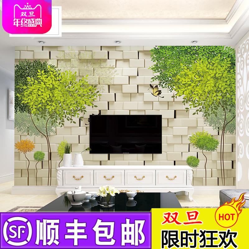 抽象树壁画墙纸