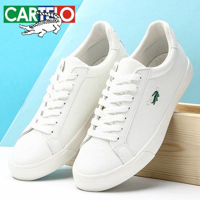 卡帝乐鳄鱼男鞋子夏季小白鞋韩版潮流百搭运动休闲鞋男士白色板鞋