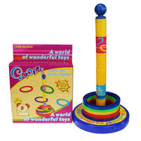 Children's ferrules toy ring circle kindergarten baby baby parent-child outdoor booth plastic rainbow throw layer stack