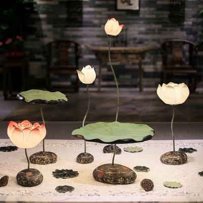 现代古典新中式落地灯创意客厅餐厅书房落地台灯复古荷花装饰灯具哪里购买