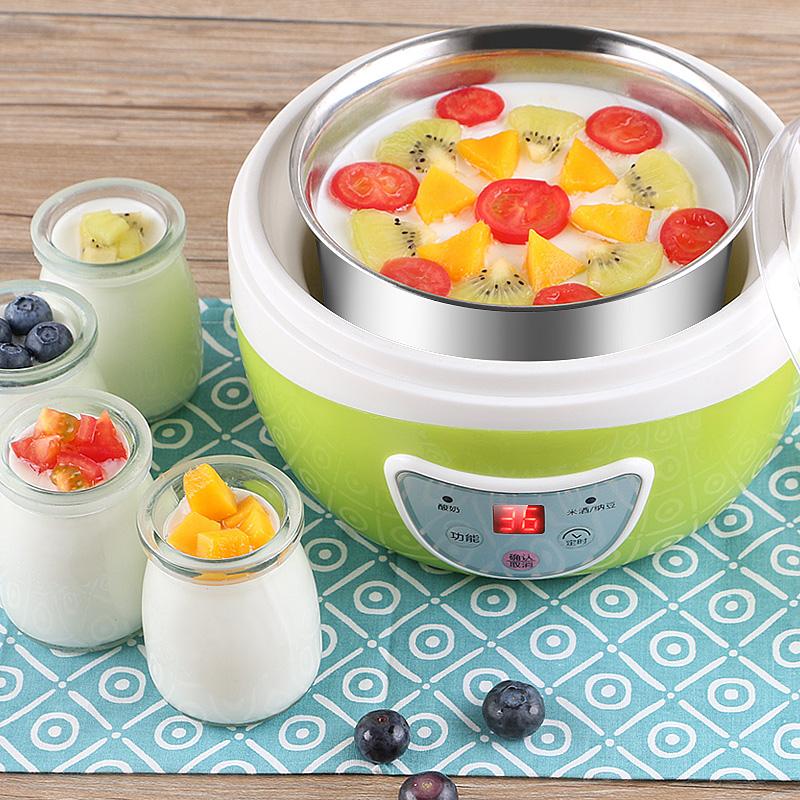 蒙得全自动迷你家用自制分杯不锈钢内胆玻璃菌粉纳豆米酒机酸奶机