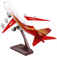 Metal simulation SF South China Eastern nautical South aviation alloy aircraft model toy sound and light passenger aircraft collection