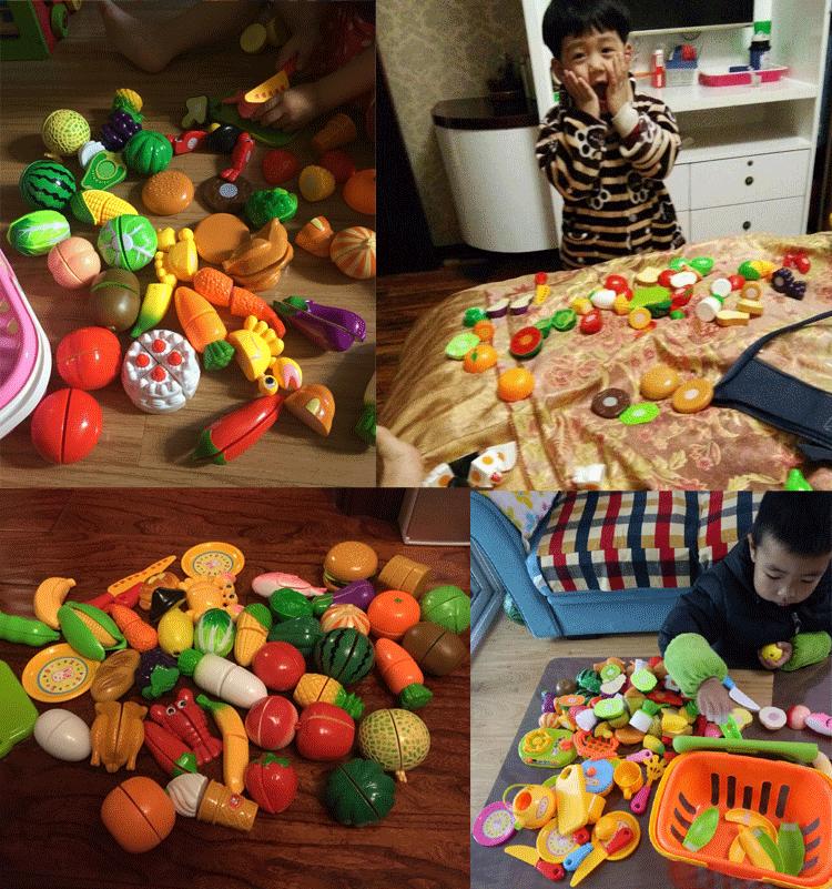 儿童过家家手提篮子切水果蔬菜套装小朋友切切乐做饭仿真厨房玩具
