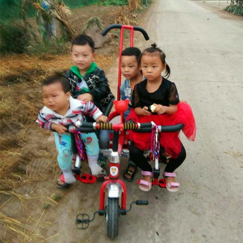 多胞胎儿童车四胞胎儿童三轮车二胎推车溜娃神器童车订制三胞胎车