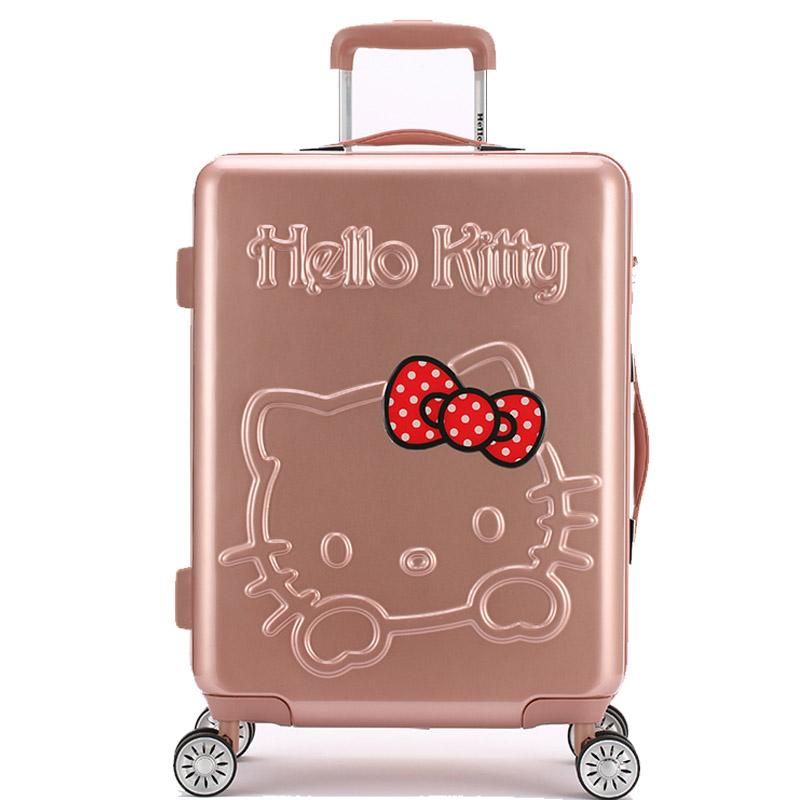 凯蒂猫女大童拉杆箱大容量户外旅行箱新潮安全拖箱可爱便携行李箱