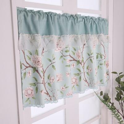 简易窗帘布 免打孔安装 出租房小窗帘小窗户 简约现代短窗帘半帘