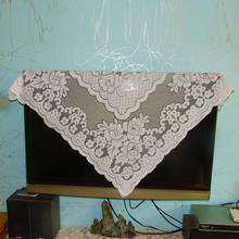 包邮田园蕾丝电视布防尘罩电视机布盖巾台布盖布盖巾防尘罩