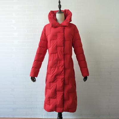 专柜品牌折扣2019新款羽绒服特价199元  A18DY008长款羽绒服