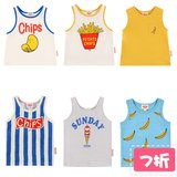 Spot BEBEDEPINO / Beibei Pinno 19 summer models authentic children's fries sleeveless vest explosion models