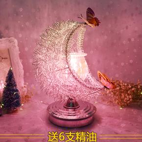 精油灯炉插电调光香薰机大号创意香薰灯卧室香熏台灯生日礼物女生