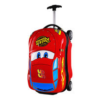 McQueen children's outdoor suitcase 18 inch four wheel 3D car suitcase can ride boy cartoon trolley case