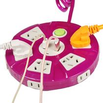孔防水拖线板9户外防水防雨插座多功能无线插座不带线接线板插板