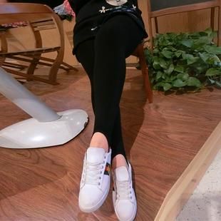 [新品促销]大码女裤2017新款胖妹妹春装加绒打底裤时尚高腰200斤潮胖mm裤子