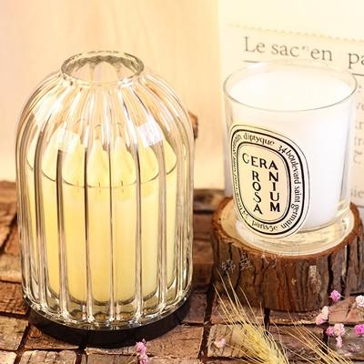 现货 Diptyque 大号190g香氛蜡烛玻璃烛罩 全曲线 竖纹