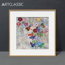 君与我DOB两个签名限量日本波普艺术家村上隆版画现代抽象装饰画