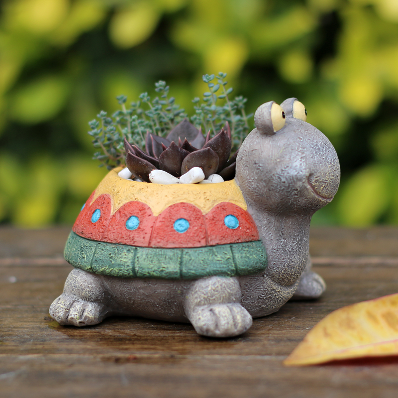 如果 田园乌龟多肉植物树脂花盆花器创意复古庭院家居装饰礼品可领取领券网提供的5.00元优惠券