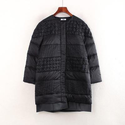 地系列品牌折扣剪标冬季女装圆领宽松纯色时尚百搭羽绒服C4425