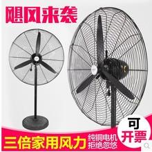 强力大型工业电风扇750工厂落地扇商用大功率大风力牛角壁挂扇650