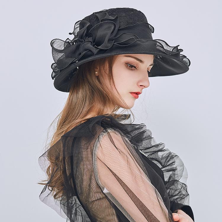 黑色欧美女士帽