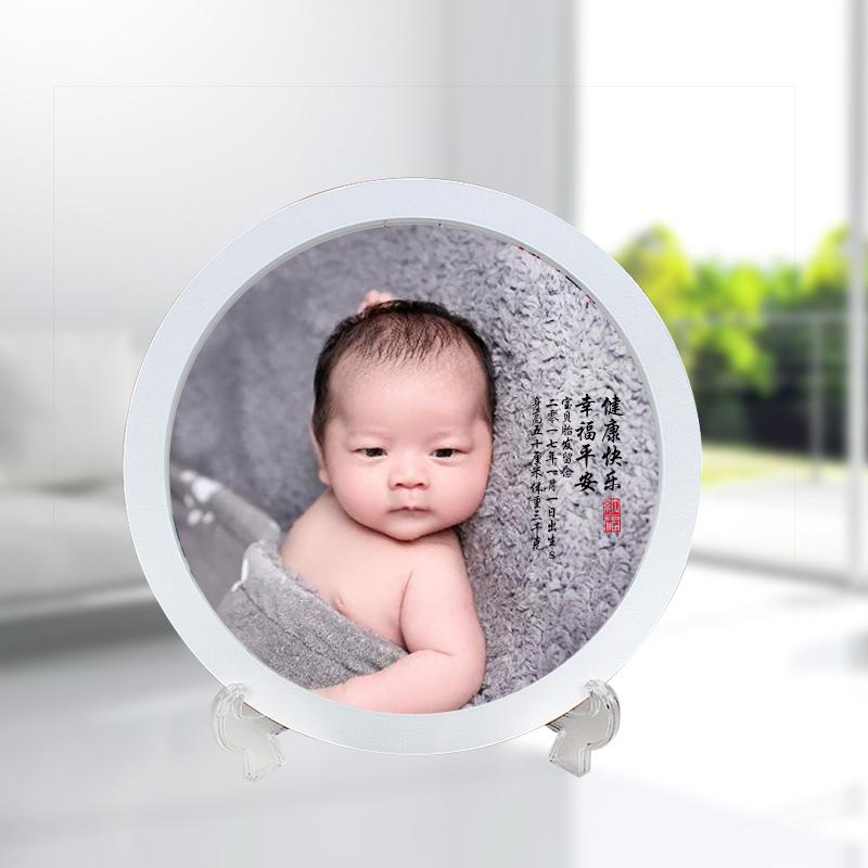 胎毛画 新生儿婴儿鸡猴宝宝素描肖像胎发工艺礼品胎发纪念品包邮