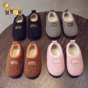 2018 autumn and winter new children's cotton shoes girls shoes flat baby cotton shoes non-slip warm shoes boys shoes indoor shoes