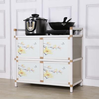 餐边柜碗柜茶水柜简易橱柜厨房柜子灶台柜不锈钢餐厅收纳柜储物柜