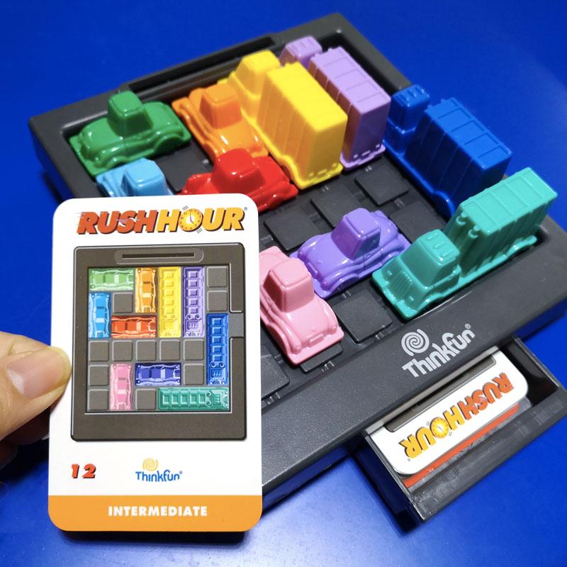 美国thinkfun塞车时间桌游儿童益智玩具赛堵车3-8岁游戏华容道