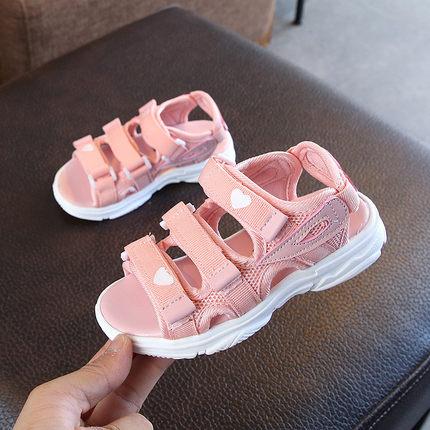儿童凉鞋2019夏季新款韩版女童公主鞋中大童女孩防滑软底沙滩鞋潮