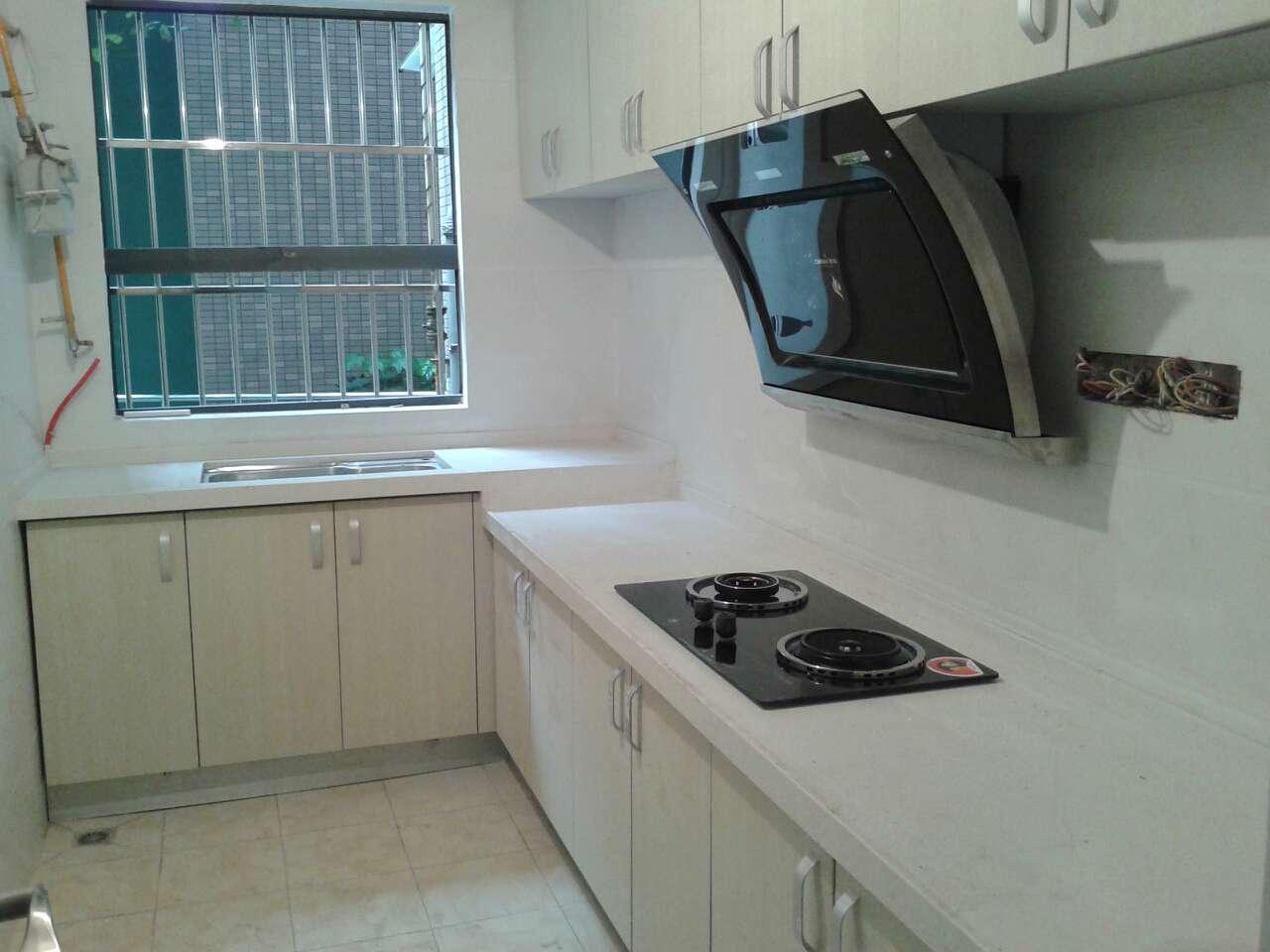 成都厨房厨柜简易整体橱柜定做定制石英石台面双饰面门板现代简约