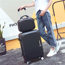 Pull-rod suitcase, universal wheel suitcase, 26-inch luggage suitcase, 22-inch trunk, 24-inch female and male fashion, small and fresh suitcase and bag