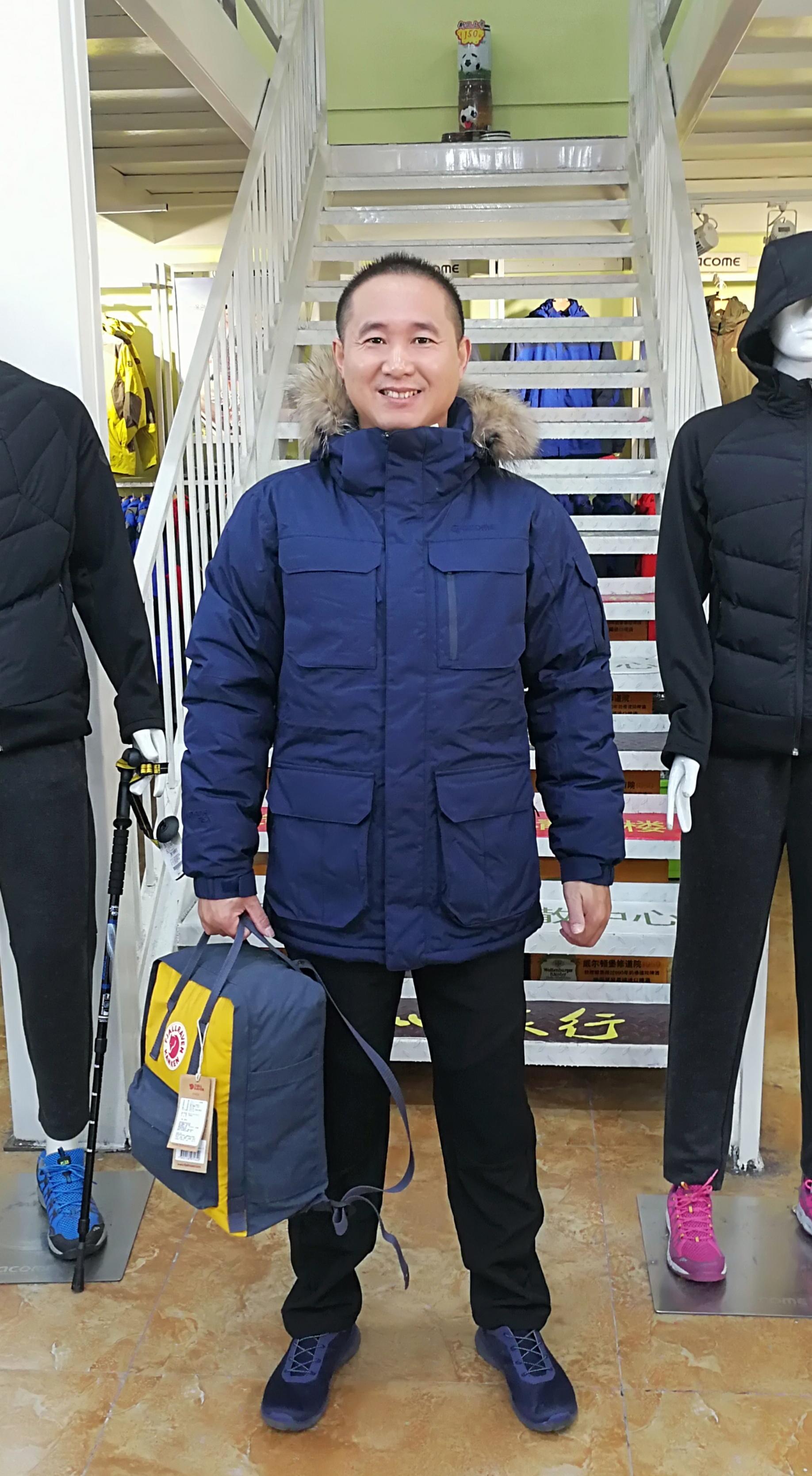 ACOME/阿珂姆新款古尔 男式连帽开衫保暖户外羽绒服 AG162D1011