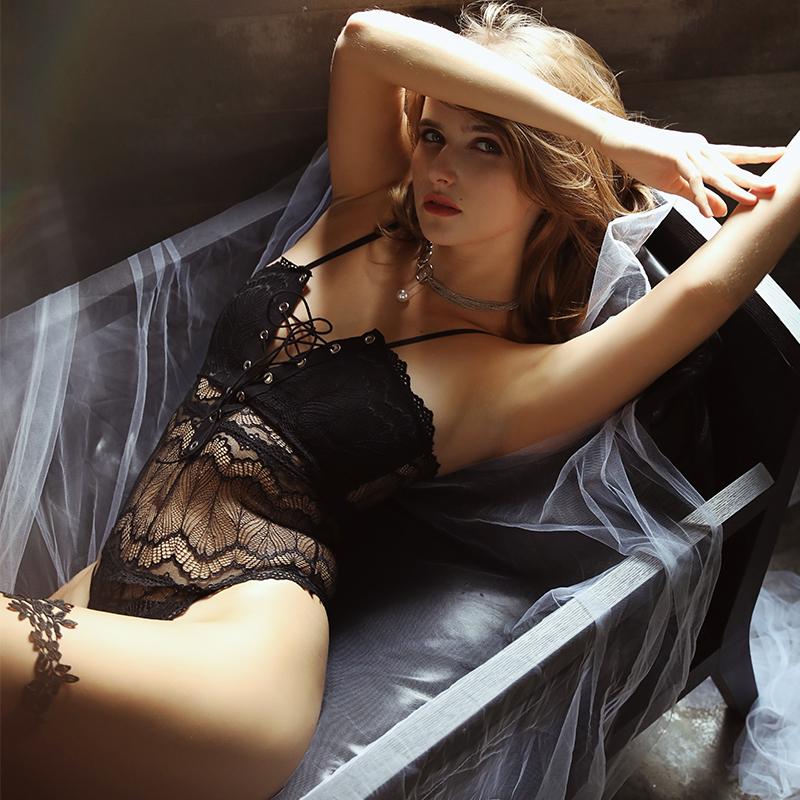 性感睡衣女蕾丝吊带情趣连体衣薄款大码蕾丝诱惑内衣火辣短塑身衣