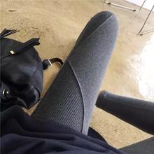 长裤 外穿显瘦小脚裤 纯棉螺纹打底裤 韩国春秋薄款 女士拼接高弹修身