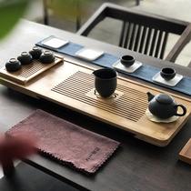 储水式茶盘竹制简约茶台干泡茶海排水日式茶具竹子托盘家用长方形