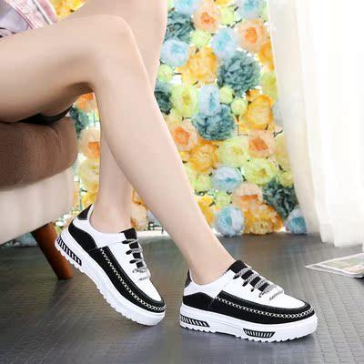 2017春季新款板鞋女运动休闲厚底内增高夏季韩版百搭潮女鞋子学生