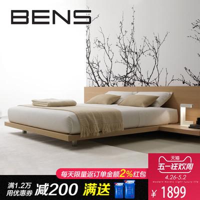 奔斯日式榻榻米板式床现代简约北欧实木床双人床1.8米主卧矮床501使用感受